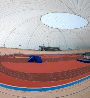 First and largest airdome - fabric covered velodrome in Europe.