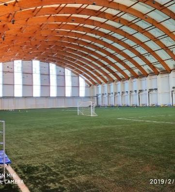 The largest wooden frame fabric structure in Asia.