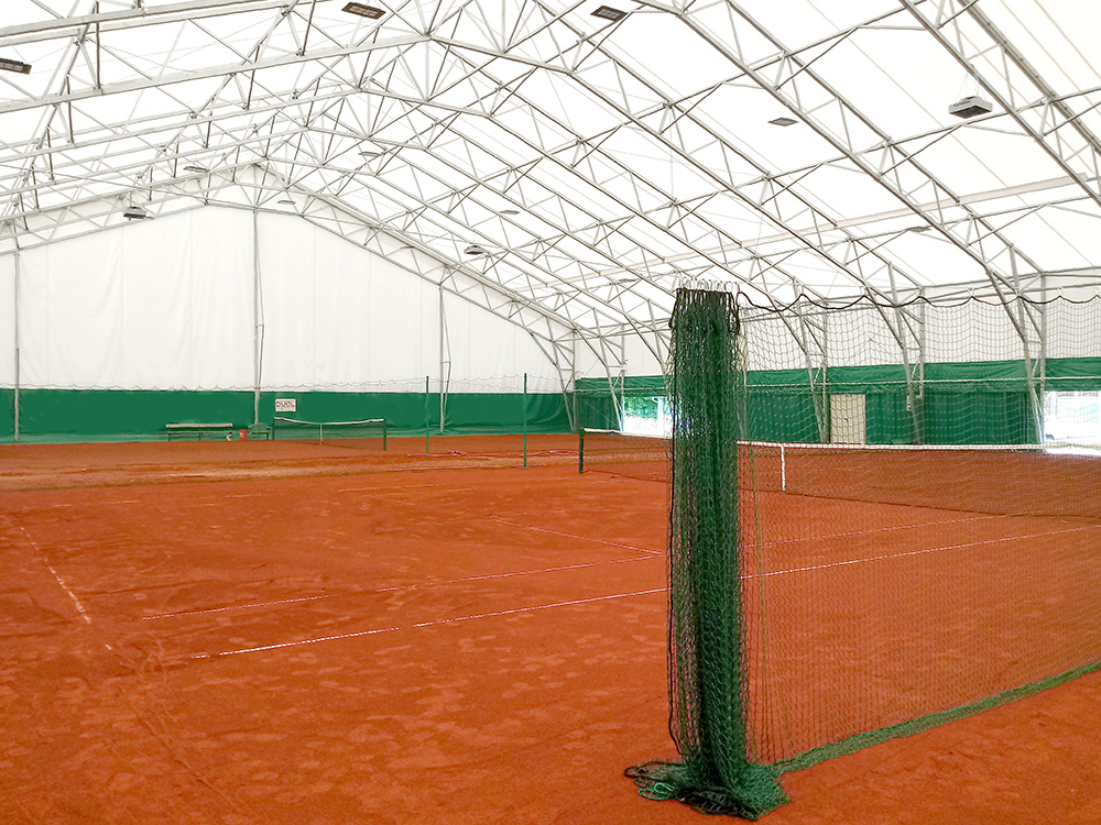 fabric building covered tennis courts
