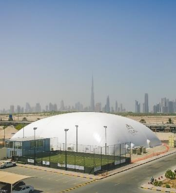 Ronaldinho Soccer Academy. Dubai.  High thermal insulation.