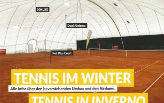 Tennis in Niederdorf will be played in the future all-year-round.