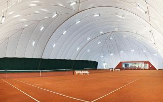 Tennis air dome on stock. 50m X 36m