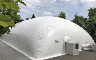 New generation DUOL air dome has been built in Switzerland with energy-efficient DMS 2x2 membrane system and state-of-the-art ventilation/heating system.