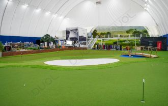 Impressive DUOL indoor golf arena in Helsinki