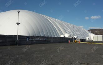 Review from our Sports Dome in Hveragerði, Iceland.