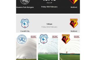 Tomorrow Watford FC play vs QPR and next week vs Cardiff City.  Result? All of them have already won by choosing DUOL airdomes.