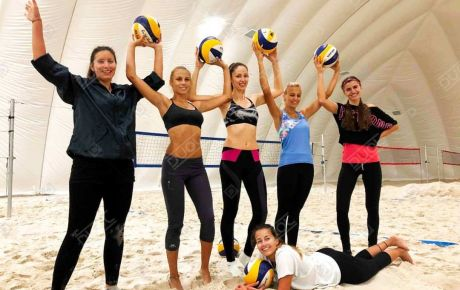 Sofia Beach volleyball Winter Challenge in DUOL sports dome