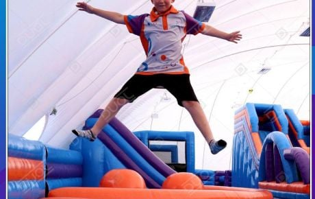 The World's First Inflatable Theme Park in an inflatable dome!