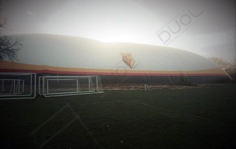 Sun is rising over the new #WATFORD #DUOL big football dome at Watford's London Colney training ground.