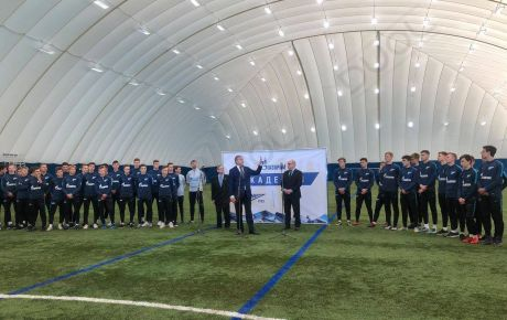 DUOL has built a new indoor football airdome for FC Zenit St. Petersburg.
