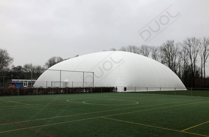2019's first project. New air dome for EHC Den Haag, Netherlands.
