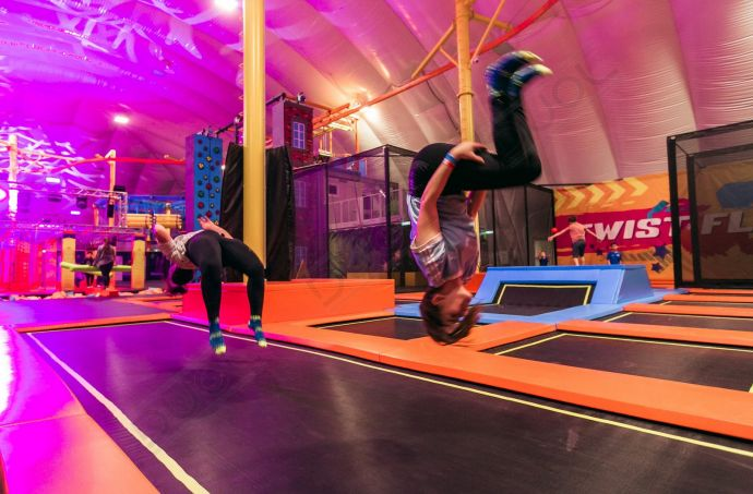 Experiencing the adventure in our airdome in Austria. The first Urban Air Park in Europe.