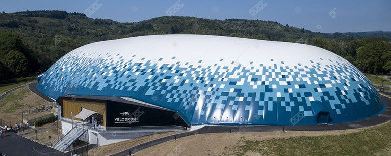 Vélodrome raymond poulidor, the only air dome covered velodrome in France