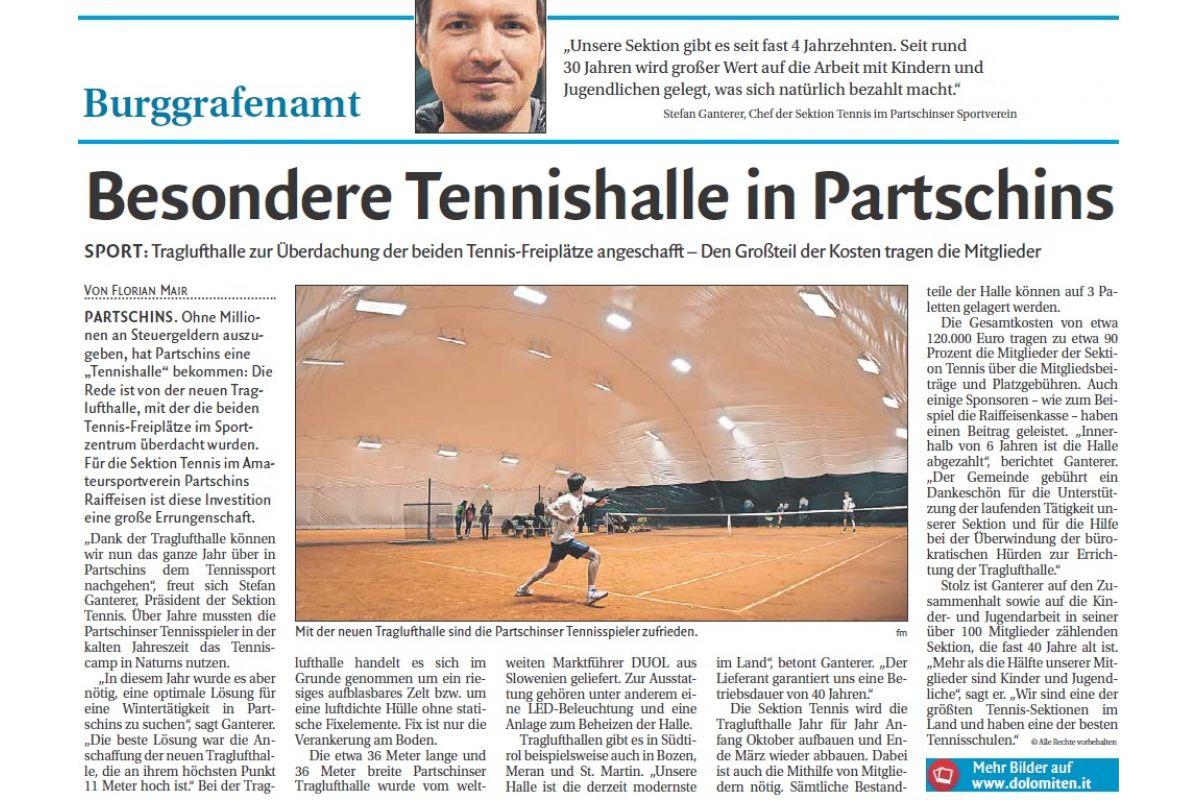 brand new 679e1 5babb Tennis club in Partschins | Single news | DUOL - Air ...