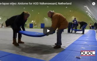 Time-lapse video: Airdome for HOD Valkenswaard, Netherland .