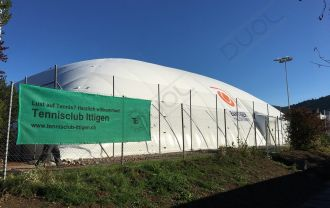 Bern, Switzerland: Air dome with Duol DMS 2x2 membrane system.