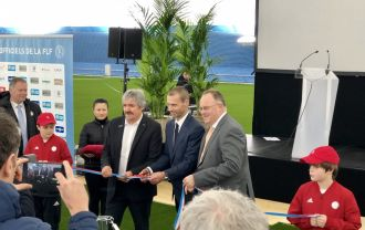 The opening of the largest Duol Football AirDome in Luxembourg, officially inaugurated by UEFA president Aleksander Čeferin.