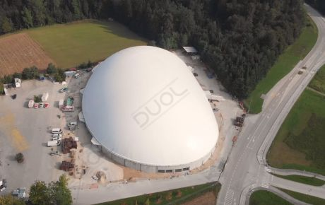 The opening ceremony of new air dome in Slovenia, Novo Mesto.