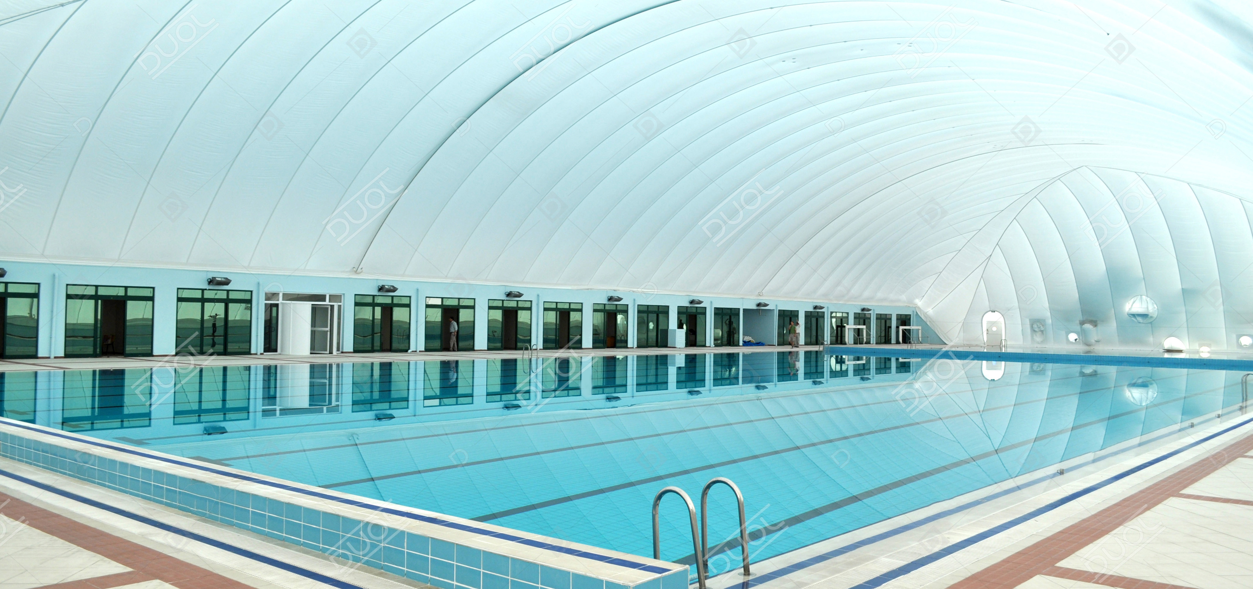 Swimming pool enclosures & domes | Product | DUOL - Air supported ...