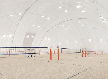 Beach volleyball air domes