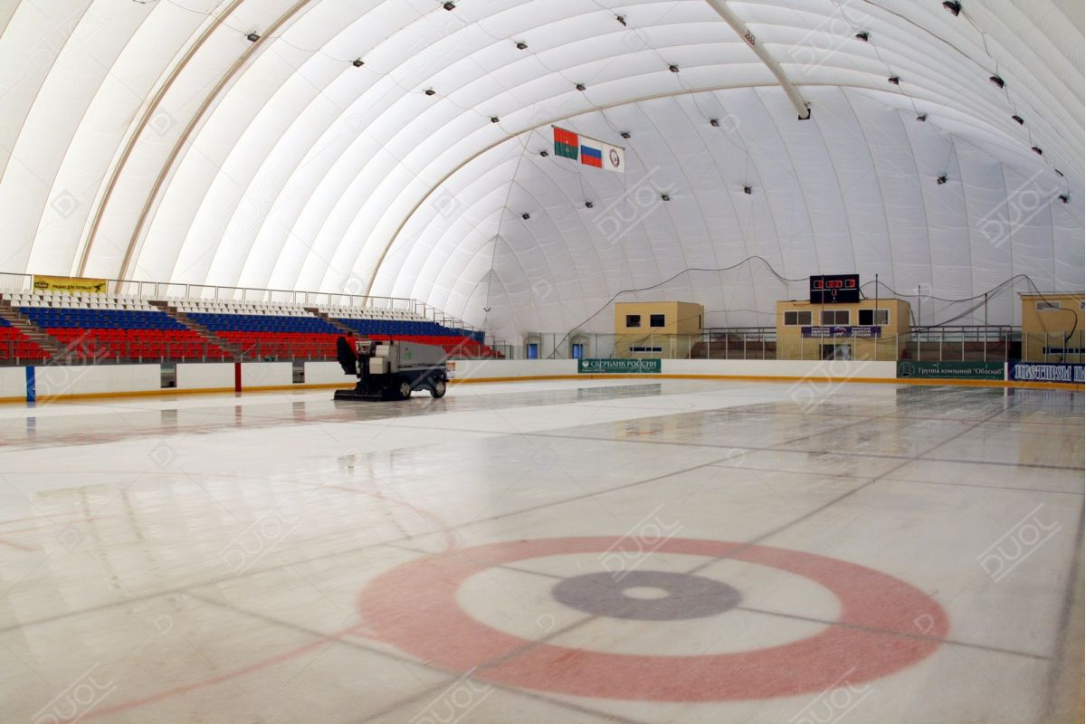 Hockey air inflated structures