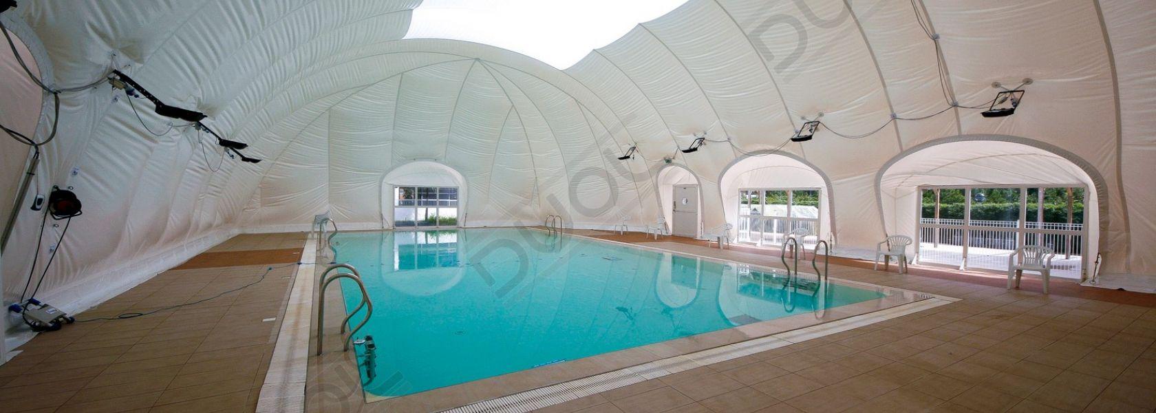 Le Sagone swimming-pool | DUOL - Traglufthallen